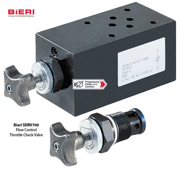 Bieri SDRV700 Throttle-check Cartridge Valve
