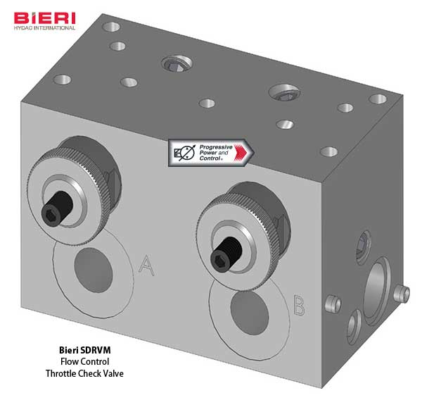 Bieri SDRVM throttle check flow control valve