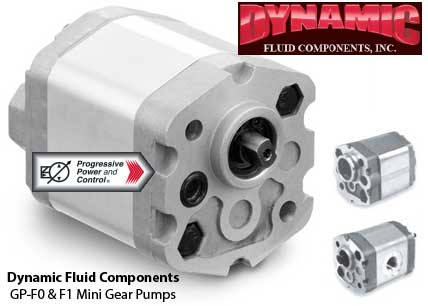 Dynamic Fluid Components GP-F0 and GP-F1 Mini Gear Pumps