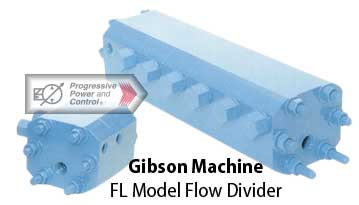 Gibson MAchine model FL flow divider for hydraulic systems