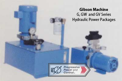 Gibson G series hydraulic power units G, GW, GV models