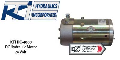 Kti hydraulics dc hydraulic motors in 12 volt and 24 volt for 4000 rpm dc motor