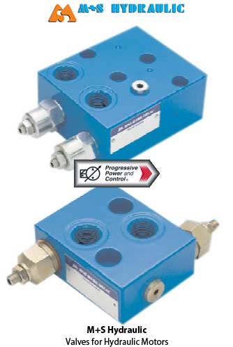 valves for hydraulic motors from M+S
