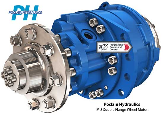Poclain Hydraulics MD11 wheel motor with double flanges