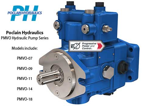 Poclain Hydraulics PMVO axial piston pump with variable displacement