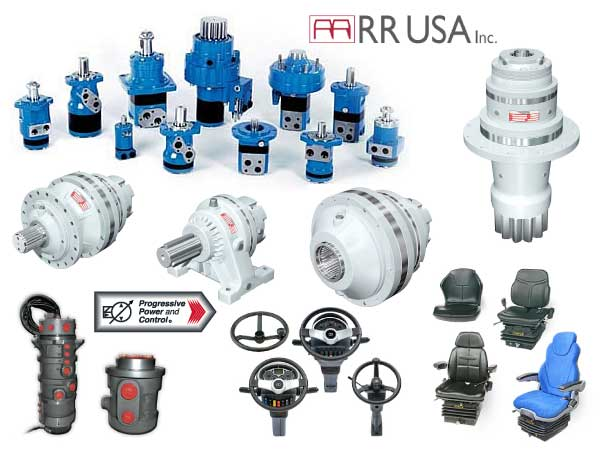 photo collage of RRUSA hydraulic parts