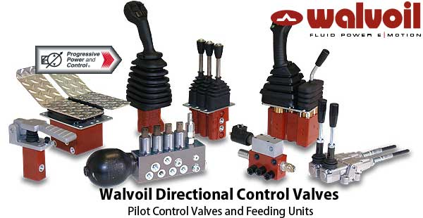 Walvoil Directional Control Valves Pilot Control Valves and Feeding Units