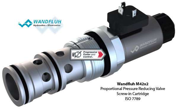 Wandfluh M42x2 Proportional Pressure Reducing Valve - ISO 7789
