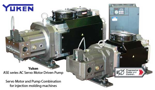Yuken ASE series AC Servo motor-driven piston pump for injection molding machines