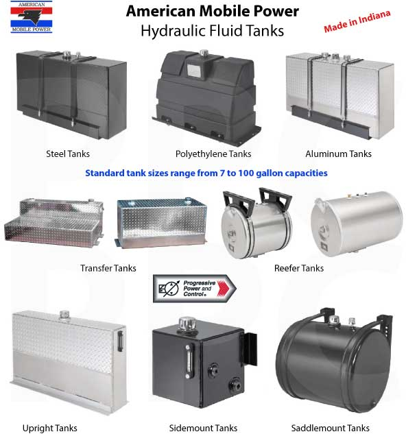 Hydraulic fluid tanks from American Mobile Power