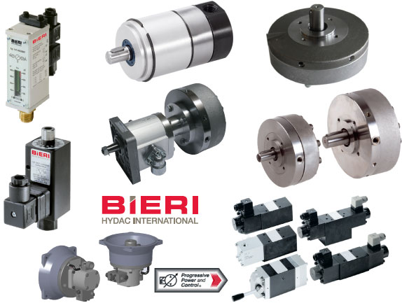 Photo collage of Bieri hydraulic parts
