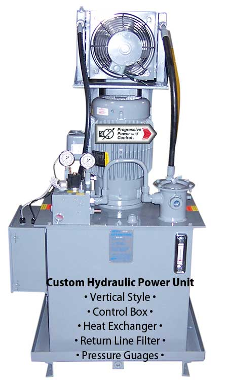 Verical-style hydraulic power unit