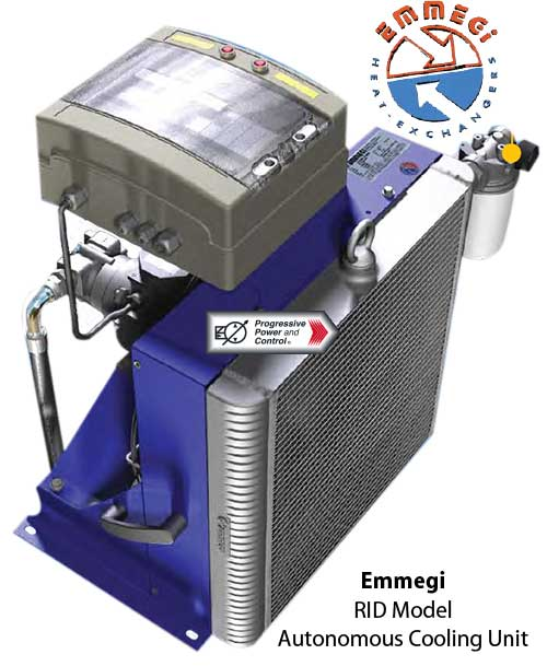 Emmegi autonomous heat exchanger cooling units