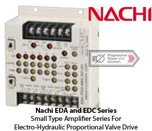 Nachi EDA and EDC SeriesSmall Type Amplifier Series For Electro-Hydraulic Proportional Valve Drive