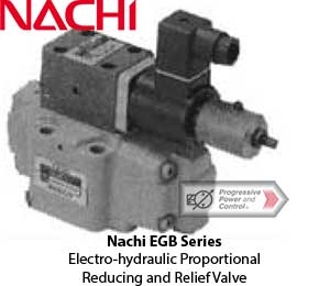 Nachi EGB Electro-hydraulic Proportional Reducing and Relief Valve