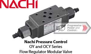 Nachi OY and OCY Flow Regulator Modular Valves