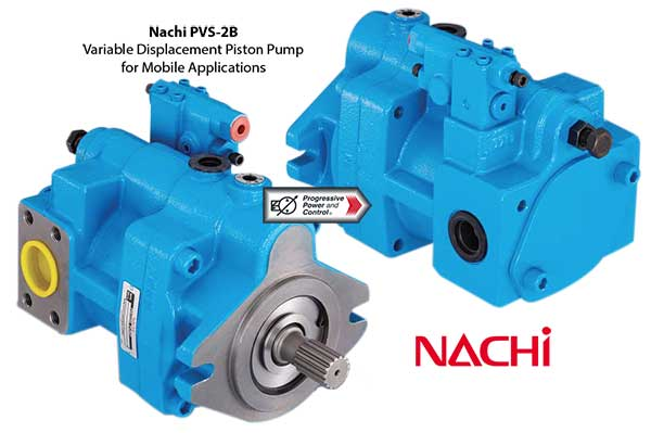 photo of Nachi PVS-2B variable displacement piston pump for mobile hydraulic use