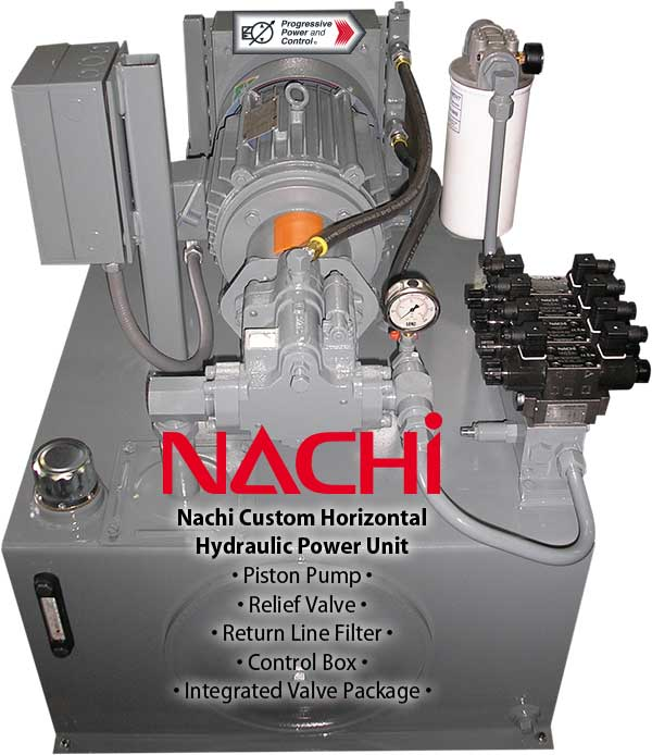 Nachi HPU with integrated valve package