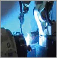 Nachi robot performing arc welding