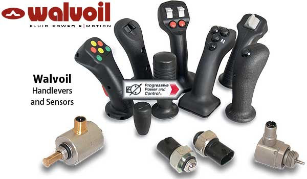 Walvoil handlevers and sensors
