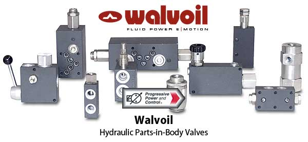 Walvoil hydraulic parts in body valves