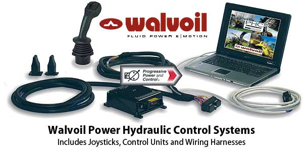 Walvoil Power Hydraulic Control Systems,  Joysticks, Control Units and Wiring Harnesses