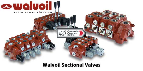 Walvoil sectional valves for directional control