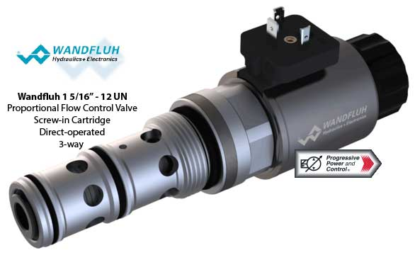 "Wandfluh 1 5/16"" -12 UN Proportional Flow Control Valve