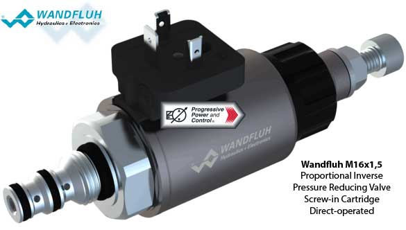 Wandfluh M16x1,5 Proportional Inverse Pressure Reducing Valve