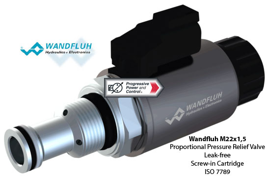 Wandfluh M22x1,5 Leak-free Proportional Pressure Relief Valve Screw-in Cartridge