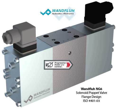 NG6 Solenoid Poppet Valve - 3/4-Way - ISO 4401-03