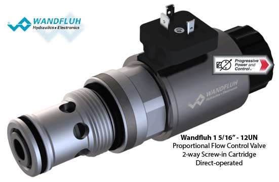 Wandfluh 1 5/16″-12 UN Proportional Flow Control Valve Screw-in Cartridge Direct Operated 2-way