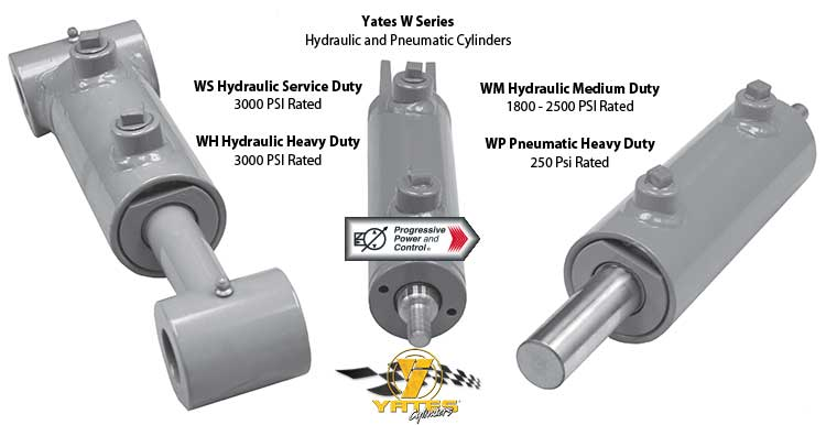 Yates WS, WH, WM hydraulic cylinders and WP air cylinder photo