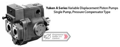 Yuken A series variable displacement piston pump - pressure compensated single hydraulic pump