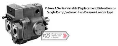 Yuken A series piston pumps - variable displacement - solenoid pressure control
