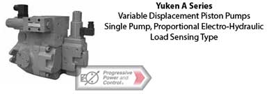 Yuken A Series Variable Displacement Piston Pumps – Single Pump, Proportional Electro-Hydraulic Load Sensing Type