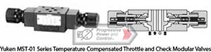 Yuken MST-01 Series Temperature Compensated Throttle and Check Modular Valves