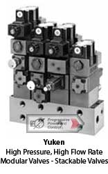 example configuration of Yuken stackable valves