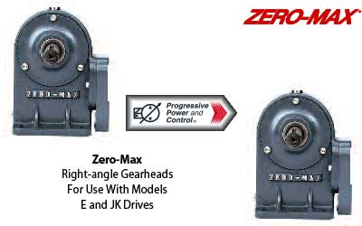 Zero-Max gearheads for drives
