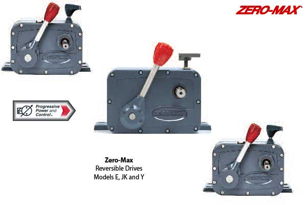 Zero-Max reversible hydraulic drives