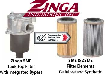 Zinga SME tank top filter with bypass