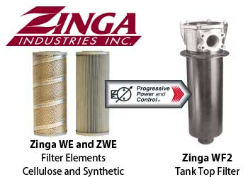 Zinga WF2 tank top filter with WE / ZWE filter element
