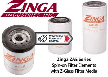 Zinga ZAE hydraulic filters with Z-glass media - spin-on filters